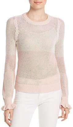 Design History Color-Block Mesh Sweater