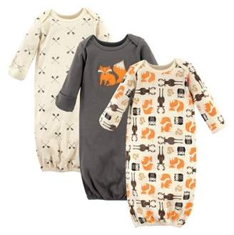 Hudson Baby Unisex Baby Boy or Girl Gowns, 3-pack
