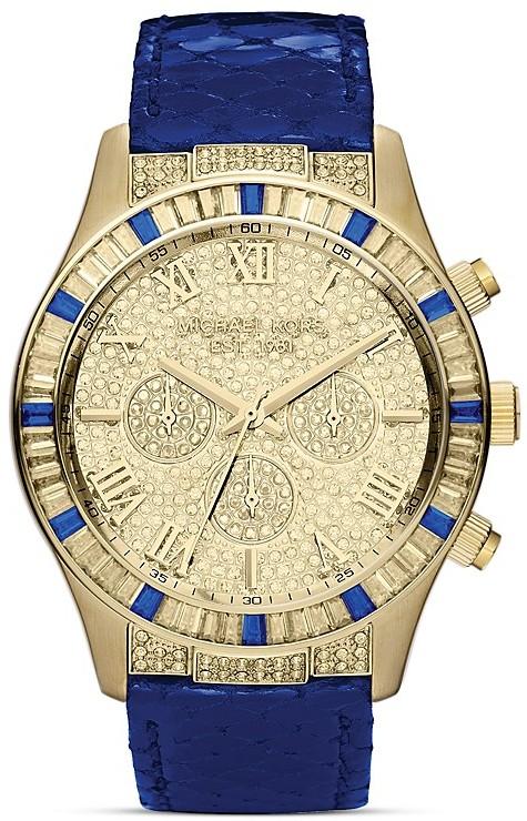 Michael Kors Mid-Size Layton Chronograph Glitz Watch, 43.5mm