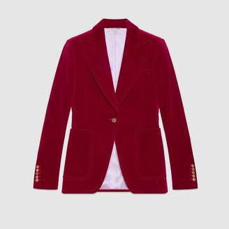 Gucci Velvet single-breasted jacket