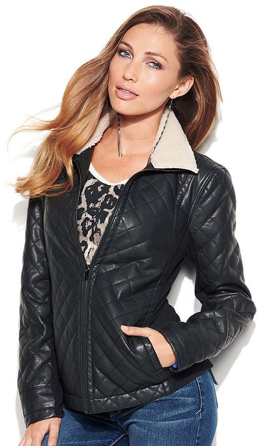 Apt. 9 quilted faux-leather jacket - women's