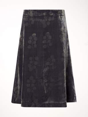 White Stuff Airi Fit & Flare Velvet Skirt
