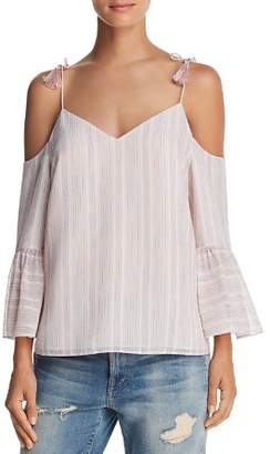 Cooper & Ella Sofie Rainbow Cold-Shoulder Top
