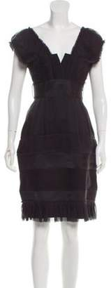 Alberta Ferretti Silk Mini Dress Black Silk Mini Dress