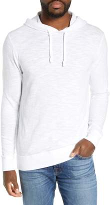 Faherty Slubbed Cotton Hooded Pullover