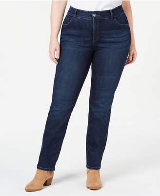 Lee Platinum Plus Size Straight-Leg Jeans