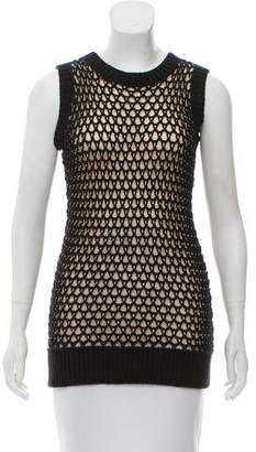 MM6 MAISON MARGIELA MM6 Maison Martin Margiela Open Knit Sleeveless Top
