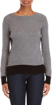In Cashmere Cashmere Raglan Tipped Sweater