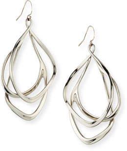 Alexis Bittar Orbit Wire Drop Earrings, Silvertone
