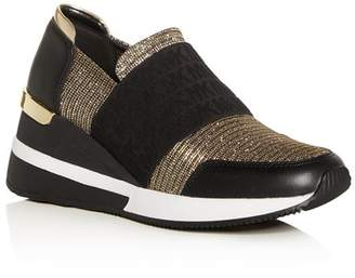 MICHAEL Michael Kors Women's Felix Slip-On Wedge Sneakers