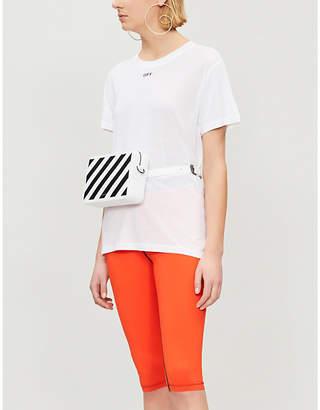 Off-White Logo-detail cotton-blend T-shirt