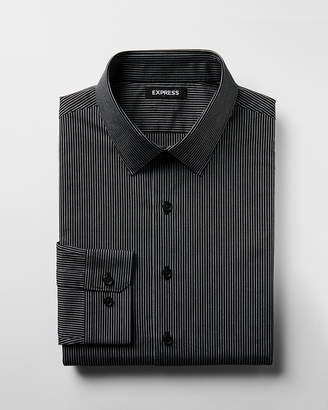 Express Extra Slim Striped Point Collar Shirt