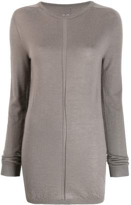 Rick Owens ribbed trim jumper