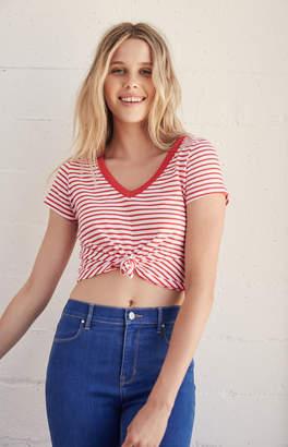 Proenza Schouler Basics By Pacsun Knot Even V-Neck T-Shirt