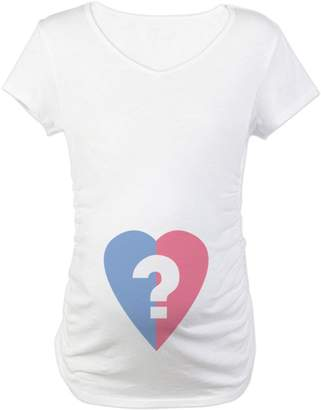 CafePress - Boy Or Girl? - Cotton Maternity T-shirt, Cute & Funny Pregnancy Tee
