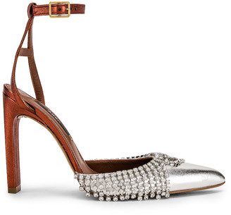 Area Ankle A Pump in Clear, Silver & Crystal | FWRD