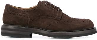 Green George perforated leather brogues