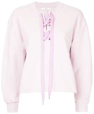 Tibi tie neck sweatshirt