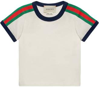 Gucci Kids Baby T-shirt with Web and Kingsnake