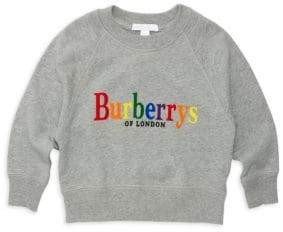 Burberry Little Girl's& Girl's Elin Logo Cotton Sweatshirt