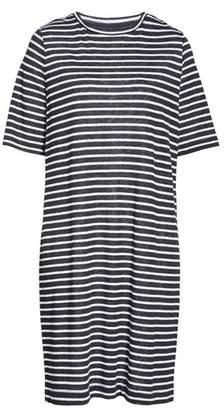 Eileen Fisher Stripe Organic Linen Knit Shift Dress
