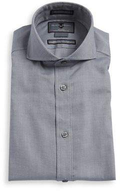 Black & Brown Black Brown Slim-Fit Non-Iron Cotton Dress Shirt