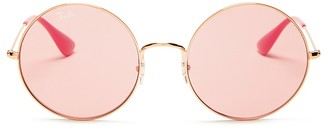 Ray-Ban Jo-Ja Round Sunglasses, 55mm $165 thestylecure.com