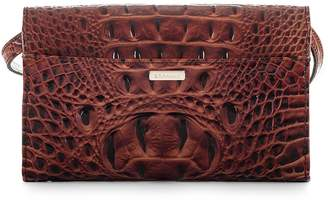 Brahmin Kennedy Croc Embossed Leather Crossbody Bag
