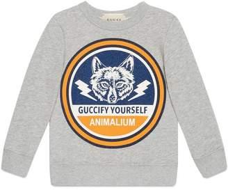 Gucci Children's sweatshirt with wolf print