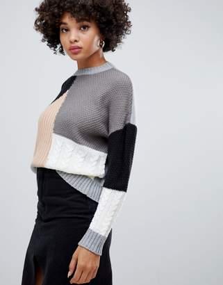Missguided color block sweater in multi