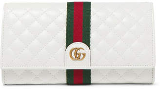 Gucci Quilted Leather Wallet - White
