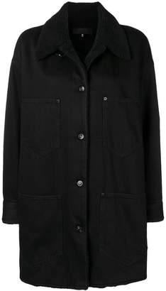 MM6 MAISON MARGIELA shearling collar denim coat