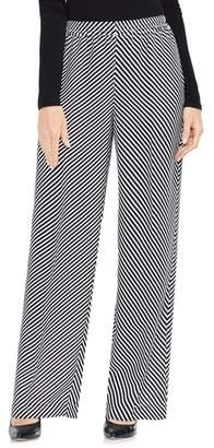 Vince Camuto Diagonal Stripe Wide Leg Pants