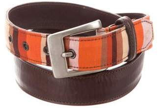 Paul Smith Striped Leather Belt