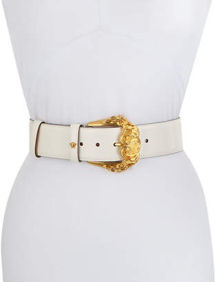 Versace Baroque Buckle Leather Belt