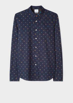 Paul Smith Men's Tailored-Fit Navy 'Acapulco' Print Cotton Shirt
