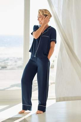 Next Womens Navy Emma WIllis Button Through Pyjamas