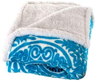 Lavish Home Printed Coral Fleece Sherpa Throw Blanket
