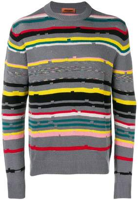 Missoni crewneck striped sweater
