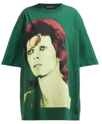 Undercover David Bowie Oversized Cotton T Shirt - Womens - Green