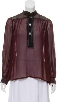 Louis Vuitton Semi-Sheer Silk Top
