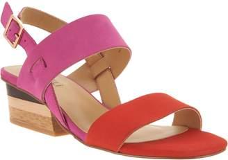 VANELi Leather Color Blocked Heeled Sandals - Caryna