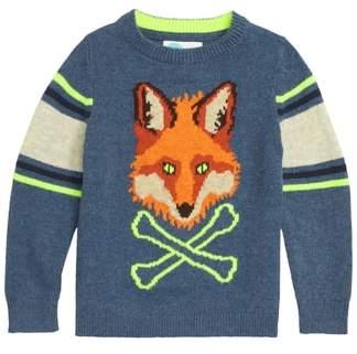 Boden Mini Intarsia Fox Sweater