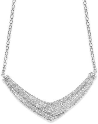Wrapped in Love Diamond Pave-Set Crossover Necklace in Sterling Silver (1 ct. t.w.)