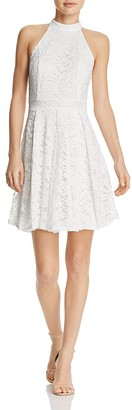 AQUA Lace Fit-and-Flare Dress - 100% Exclusive $78 thestylecure.com