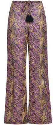 Figue Estela Tasseled Cotton-blend Gauze Wide-leg Pants