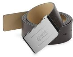 Armani Collezioni Plate Leather Belt