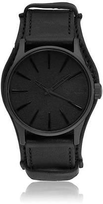 Nixon Men's Sentry Leather Watch - Black
