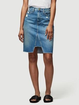 Frame Midi Pencil Skirt Triangle Panel