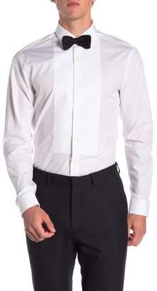 Ermenegildo Zegna Embroidered Bib Trim Fit Dress Shirt